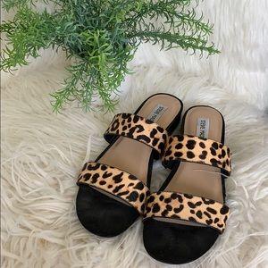 🐞Steve Madden animal print sandals size 8